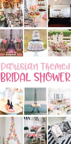 Parisian Themed Bridal Shower Ideas on Love the Day