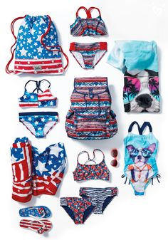 Swimwear & accessories galore! All the trimmings for a perfect day in the sun!