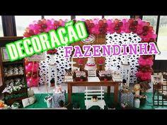 DECORAÇÃO DE FESTA INFANTIL FAZENDINHA - YouTube