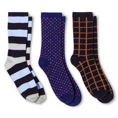 Ecom ME Casual Socks 3 Pk Xavier Navy 4-10
