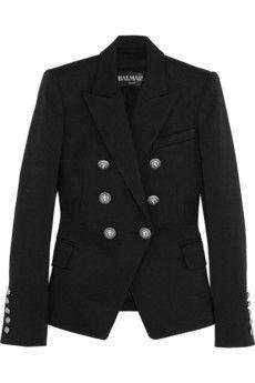 Balmain Double-breasted piqué blazer | NET-A-PORTER