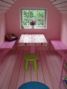 Building your little one a playhouse in the backyard will surely make them happy. There are a few things you should know before you build a playhouse for kids. Girls Playhouse, Childrens Playhouse, Backyard Playhouse, Build A Playhouse, Wooden Playhouse, Backyard Playground, Backyard For Kids, Inside Playhouse, Kids Playhouse Plans