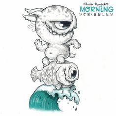 Chris Ryniak - Morning Scribbles Nr.  776: Surf's Up