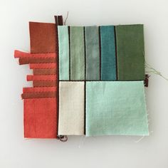 Abstract Embroidery, Modern Embroidery, Scrappy Quilts, Mini Quilts, Erin Wilson, Fiber Art Quilts, Contemporary Quilts, Small Quilts, Quilt Tutorials