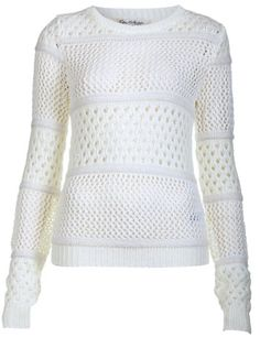 Lily white mesh sweater $65