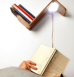 Lililite: Leeslamp en boekenplan in één! Super! (de prijs minder: € 119 voor 1 - €199 voor 2)