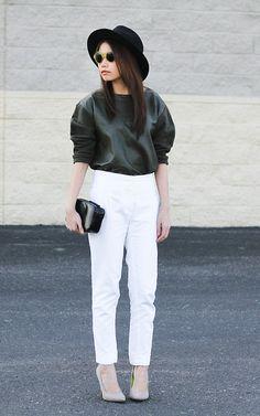 Tammy Defox - Mango Leather Sweater, Verawang Leather Clutch - Go Simply