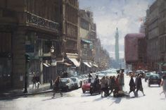 Douglas Gray | Towns & Cities Paintings | Contemporary English Artist of Figurative and Landscape Oil Paintings