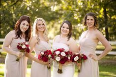 A Fall Masquerade Wedding in Arizona, Drew Brashler Photography - The Coordinated Bride Wedding Blog; Bridesmaid; Ivory Wedding Dresses; Bridesmaid Bouquets