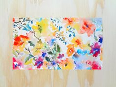 Hey, I found this really awesome Etsy listing at https://www.etsy.com/listing/196682330/throw-rug-with-watercolor-floral-design