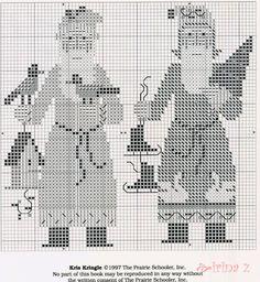 Kris Kringle • 4/4 Charts for the two larger Santas [Prairie Schooler #62]