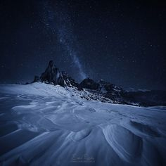 Night in the Dolomites.