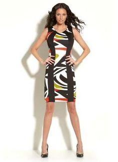 Joseph Ribkoff | Princess Line, Colour Block Pencil Dress