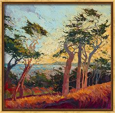Monterey Landscape Canvas Print featuring the painting The Sentinels by Erin Hanson