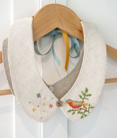Detachable Hand Embroidered Peter Pan Collar by theowlsarehunting, $43.00