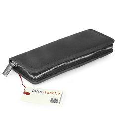 Federmäppchen / Stifte-Etui 012 in M, Leder Schwarz Usb Stick, Zip Around Wallet, Diy, Highlighter Pen, Scale Model, Black, Gifts, Bricolage, Do It Yourself