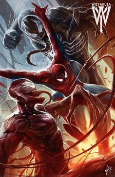 by wizkayuza tags : spiderman marvel disney fanart art comic