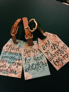 Recycled Map Luggage Tags by PrintsbyPatty on Etsy