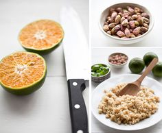 spicy quinoa with tangerines pistachios and herb puree    i need more go-to quinoa recipes