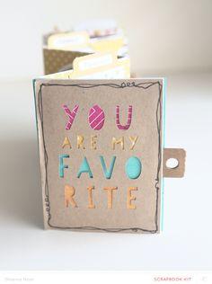 You Are My Favorite * MINI *  by Shanna Noel at @studio_calico - accordion mini book