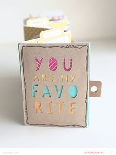You Are My Favorite * MINI * by Shanna Noel at @studio_calico - accordion mini book