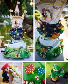 Mario wedding cake #cake #wedding #mario