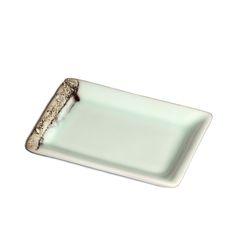 """www.dixng-shop.de Porzellan Teller, """"Herbstlandschaft"""", blau/grün/weiss changierend. wird von dem jungen Keramikkünstler Jin Yuan Xü gefertigt."""