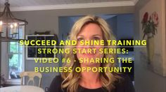 Strong Start Series: #6 Share The Business Opportunity in Direct Sales If you are new to direct sales or have recently decided to restart your direct sales business, this Strong Start Series is the place to start! In video number six of the strong start series Kris Carlson, top leader in the direct sales industry,  talks about sharing the business opportunity in direct sales!    For more direct sales training visit: http://SucceedAndShineTraining.com