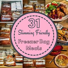 Slimming 31 Slimming World Friendly Freezer Meals in One Batch. Low syn batch cook and batch prep. - 31 Slimming World Friendly Freezer Meals in One Batch. Low syn batch cook and batch prep. Batch Cooking Freezer, Freezer Bag Meals, Sw Meals, Bulk Cooking, No Cook Meals, Budget Meals, Slimming World Meal Prep, Slimming World Recipes Syn Free, Slimming Eats