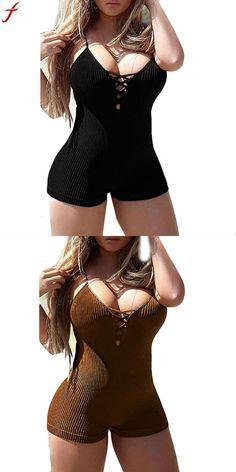 b8a4942848 Women bodysuits combinaison pantalon femme elegante sexy bodycon sleeveless  skinny jumpsuit playsuits overalls for women