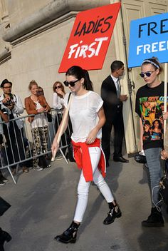 Outside the Chanel show in Paris. See all of Kendall Jenner's best looks.