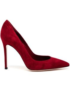 GIANVITO ROSSI - Suede Pointed Pumps 5