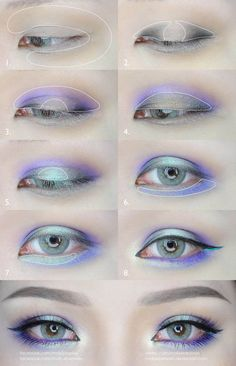 Green and Purple Eyes Makeup Tutorial by mollyeberwein, . Green and Purple Eyes Makeup Tutorial by mollyeberwein , Green and Purple Eyes Makeup Tutorial by mollyeberwein. Asian Eye Makeup, Purple Eye Makeup, Green Makeup, Colorful Eye Makeup, Natural Eye Makeup, Smokey Eye Makeup, Pastel Goth Makeup, Eyebrow Makeup, Anime Make-up