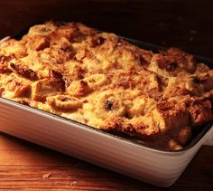 A rich salted caramel and banana breakfast strata recipe.