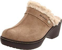 Crocs Women's Cobbler Leather Clog with Faux Fur Trim. No matter where you roam, you'll still be fabulous! Functional. Fashionable! Slip into the perfect mix of wear-anywhere functionality and fun-loving style with these Crocs Cobbler Leather Clogs with Faux Fur Trim.