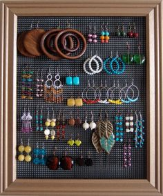 Way to organize all your earrings!