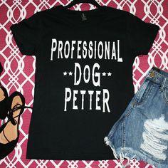Professional Dog Petter Women's Black Graphic Top | Cali Boutique | FREE U.S. Shipping!