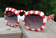 Christmas in July - Candy Cane Sunglasses & links to Party Game ideas