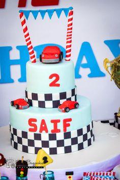 Race Car Cake from a Race Car Birthday Party on Kara's Party Ideas | KarasPartyIdeas.com (7)