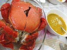 """The best crabs from my home town Zamboanga City. It is called """"Curacha"""". You always eat it with the famous """"Chavacano Sauce"""" that is made of coconut milk, annatto, ginger and lots of spices. Zamboanga City, Best Crabs, Coconut Milk, Allrecipes, Spices, Health Fitness, Foods, Eat, Vegetables"""