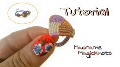 Multicolored Macrame Square Ring Tutorial ♥ Magic Knots ♥