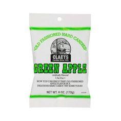 Claeys Green Apple Sugared Hard Candy