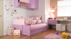 Ottimizza lo spazio con space 4 - New Ideas Bedroom Furniture Design, Girl Bedroom Designs, Bed Designs, Diy Furniture, Teen Room Decor, Bedroom Decor, Ikea Girls Bedroom, Childrens Bedrooms Girls, Toddler Rooms