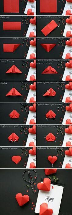 Image de diy, heart, and origami