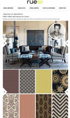 First Look: Nate Berkus for Calico via Rue Daily