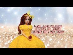 (9) Doll Dress Crochet Tutorial // Disney's Belle Inspired // DiY - YouTube
