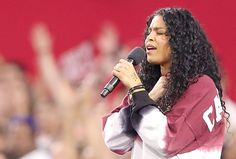 With just a few words written on her hand, anthem singer Jordin Sparks made the NFL's unity party look pathetic