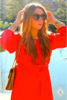 Lady in Red || Stephanie Bradshaw Creative Studio || Rebecca Minkoff, J.Crew, Karen Walker, Lilac Bijoux dress