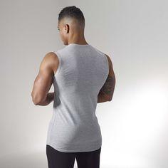 798c29307d1 Gymshark Ark Sleeveless T-Shirt - Light Grey Marl Training Tops, Tank Man,