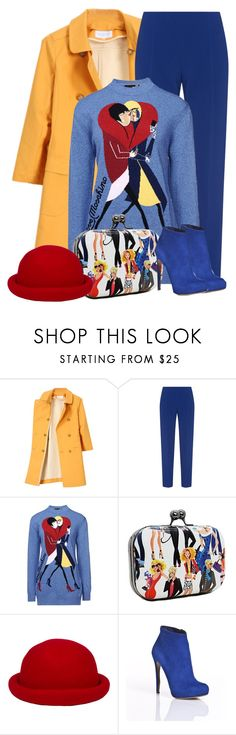 """Primarily  Bold"" by tammynky ❤ liked on Polyvore featuring Mackintosh Philosophy, Antonio Berardi, Love Moschino, Nicholas Kirkwood, women's clothing, women, female, woman, misses and juniors"